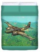 Invader Over Vietnam - Oil Duvet Cover