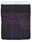 Ionic Capital Diagonal View Cropped 1 Duvet Cover