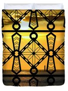 Iron Lattice Pattern St Malo Sunset Duvet Cover