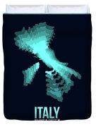 Italy Radiant Map 1 Duvet Cover