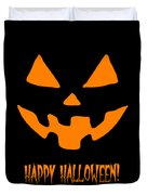 Jackolantern Happy Halloween Pumpkin Duvet Cover