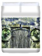 Jaguar Car Van Gogh Duvet Cover