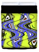 Janca Yellow And Blue Wave Abstract, Duvet Cover