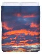 January Sunset - Vertirama 3 Duvet Cover