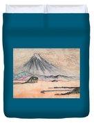Japan Art And Mount Fuji - Suzuki Kiitsu In Color By Sawako Utsumi Duvet Cover