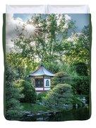 Japanese Garden #4 - Island Pagoda Vertical Duvet Cover