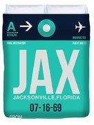 Jax Jacksonville Luggage Tag II Duvet Cover