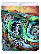 Jazzy Fish Trying For Busk At Dusk Duvet Cover