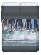 Jeremy Flores Surfing Composite Duvet Cover