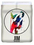 Jim Watercolor Poster Duvet Cover