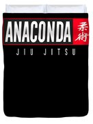 Jiu Jitsu Black Belt Anaconda Light Gift Martial Arts Bjj Duvet Cover