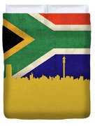 Johannesburg South Africa World City Flag Skyline Duvet Cover