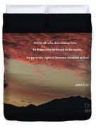 John 12 Duvet Cover