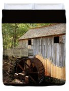 John Cable Mill In Cades Cove Historic Area In Smoky Mountains Duvet Cover