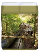 John Cable Mill In Cades Cove Historic Area In The Smoky Mountains Duvet Cover