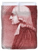 John Wesley, Anglican Minister And Christian Theologian Duvet Cover