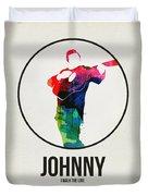Johnny Cash Watercolor Duvet Cover