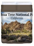 Joshua Tree National Park Box Canyon, California Duvet Cover