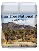 Joshua Tree National Park Valley, California Duvet Cover