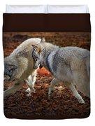 Joyful Wolves Duvet Cover