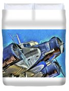 Junkers Ju 52 Art Duvet Cover