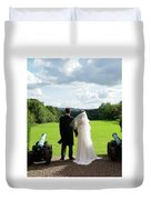 Just Married Looking To The Future Duvet Cover