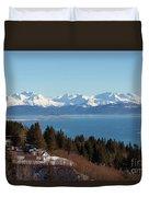 Kachemak Bay And Homer Alaska Duvet Cover