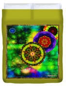 Kaleidoscope Moon For Children Gone To Soon Number - 3 Intensified  Duvet Cover