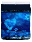 Kaleidoscope Moon For Children Gone Too Soon Number - 4 Cerulean Valentine  Duvet Cover