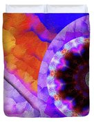 Kaleidoscope Moon For Children Gone Too Soon Number - 5 Flame And Flower  Duvet Cover