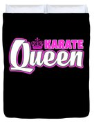 Karate Queen Cute Martial Arts Training Duvet Cover