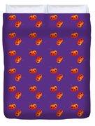 Kawaii Pumpkin Purple Duvet Cover
