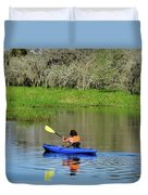 Kayaker In The Wild Duvet Cover
