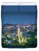 Keelung City Skyline Duvet Cover