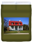 Keeper's House - Presque Isle Light Michigan Duvet Cover