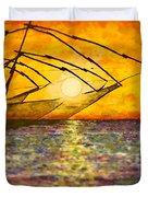 Kerala Sunset Duvet Cover by Joel Tesch