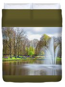 Keukenhof Tulip Garden Holland Duvet Cover