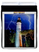 Key West Lighthouse Duvet Cover