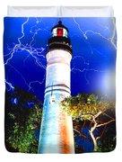 Key West Lightning Light House Duvet Cover