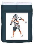 Khalil Mack Chicago Bears Pixel Art 1 Duvet Cover