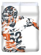 Khalil Mack Chicago Bears Pixel Art 30 Duvet Cover