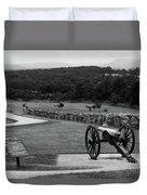 King William Artillery Marker In Black And White Gettysburg Duvet Cover