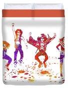 Kiss Band Watercolor Splatter 01 Duvet Cover