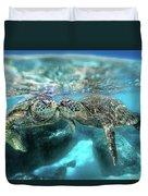 Kissing Turtle Duvet Cover