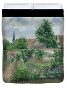 Kitchen Garden, Overcast Morning, Eragny, 1891  Duvet Cover