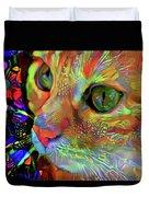Koko The Orange Cat Duvet Cover