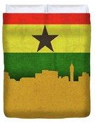 Kumasi Ghana World City Flag Skyline Duvet Cover
