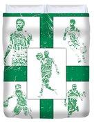 Kyrie Irving Boston Celtics Panel Pixel Art 1 Duvet Cover