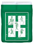 Kyrie Irving Boston Celtics Panel Pixel Art 1 Duvet Cover