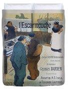L Escarmouche, 1893 French Vintage Poster Duvet Cover